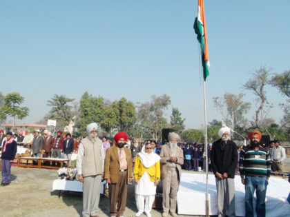 Veteran Athlete Fauja Singh at The Republic Day at Manawala