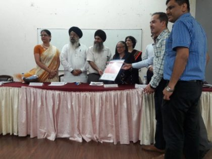Dr Inderjit Kaur visited at Thapar University